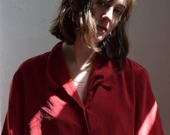 cherry silk short sleeve  | pick your print