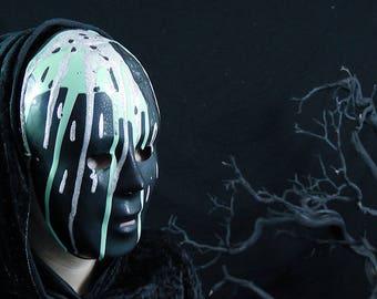 SALE - Ooze Sludge Slime Mask - Unique Original Avant Garde Fantasy Masquerade Mardi Gras Halloween Costume Party Accessory - Ready To Ship!