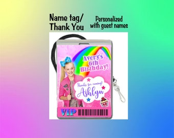 12 PER PACK Birthday Party VIP Lanyard Thank You JoJo Siwa Birthday Basketball Baby Showers Name Tags