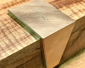 Brass Dovetail Layout Marker/Saddle, 14 Degree, 1/4 Slope, Handmade in Ohio