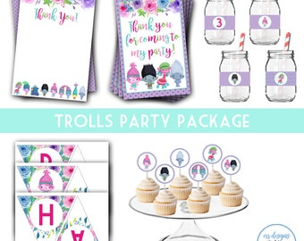 Trolls Party Package, Trolls Birthday, Trolls Party, Trolls Birthday Party