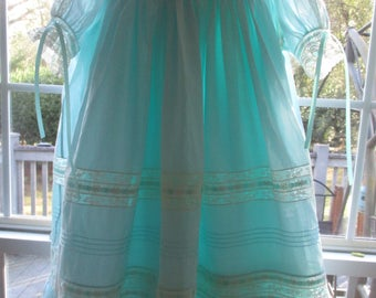 Robin's Egg Blue Nelona and Lace Confection Heirloom