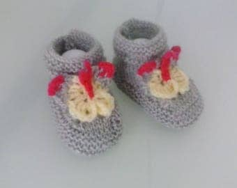 Premature birth with butterflies baby booties
