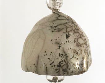 Raku Bell Ornament