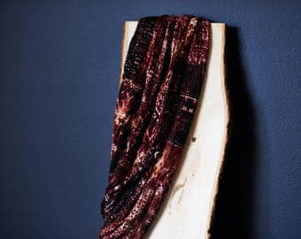 Red Maroon Burgundy Patterned Infinity Scarf