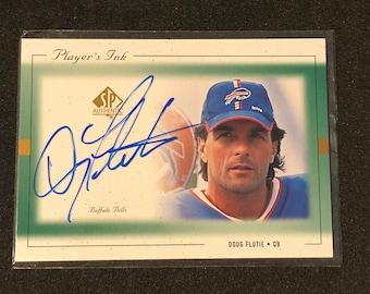 1999 Doug Flutie Upper Deck SP Autographed Football Card Buffalo Bills DF-A