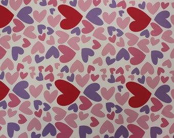 "Oracal 651 12"" x 12"" Multi Colored Hearts"