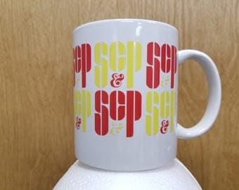 SC&P Coffee Mug Don Draper TV Show Sterling Cooper And Partners Advertising Agency Ad ScP SC And P Cup Pryce Drinkware Office Work Gift Idea