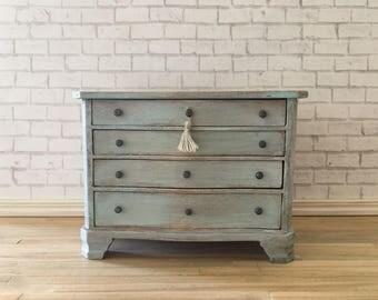 Dollhouse Miniature four drawer chest OOAK