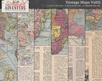 Printable Antique Maps, Old School, 1930's, Dutch Geography Book, Commercial Use OK, Digital Download, Vintage Ephemera Printable Home Decor