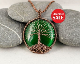 Tree-of-life necklace Tree-of-life pendant Recycled jewelry Green necklace Copper tree jewelry Anniversary gift-for-wife gift-for-mom gift