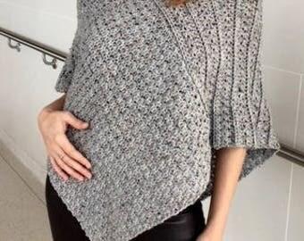 Crochet Sweater PATTERN, Poncho Pattern, Crochet Wrap Pattern, Crochet Top, PDF, DIY, Crochet Garment, Boho Crochet, Crochet Accessories