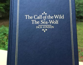 The Call of the Wild & The Sea-Wolf by Jack London Vintage Hardcover Book