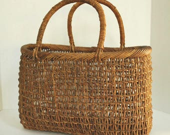 Akebi Basket, Rare and Handcrafted