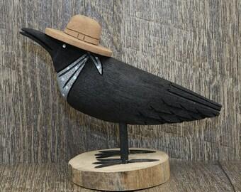 native american,navajo,native american art,navajo art,wood carving,crow carving,folk art carving,navajo folk art,  Navajo Folk Art Crow