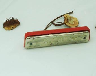 Vintage Harmonica Menuet- Poland Harmonica Menuet- Old Harmonica Menuet- Old Musical Instrument-Collectable - Retro Harmonica- Gift Idea