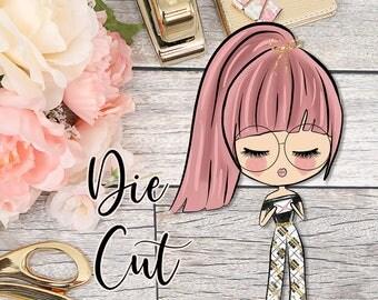 Die Cut- Cute Dolls- Happy Mail