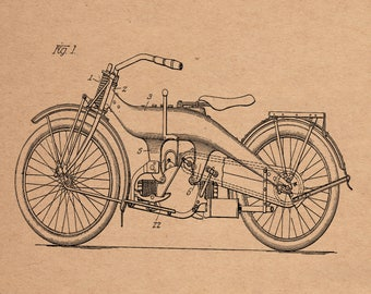 Harley Motorcycle Patent #1,510,937 dated November 1, 1919.