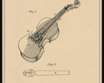 Violin Patent #242585 dated June 7, 1881.