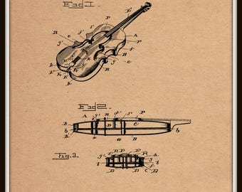 Violin Patent #481783 dated October 4, 1892.