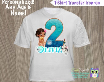 Moana T-shirt Decal, Moana Birthday Shirt, Moana Birthday, Disney Moana Birthday Decor, Moana Party, Hawaiian Party