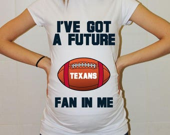 Texans Maternity Shirt Houston Texans Baby Future Fan Shirt Baby Boy Baby Girl Football Pregnancy Shirt Baby Shower Houston