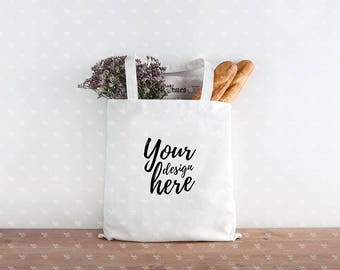 Canvas tote bag mockup /Styled stock photography / Instant download / #0620