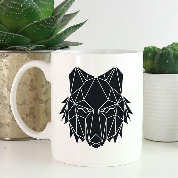 Geometric Animals Coffee Mug - Wolf Coffee Mug - Animals Mug