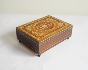 Music Box Collectible Music Box Swiss Made Mechanical Musical Jewellery Box Inlaid Wood Reuge Music Box