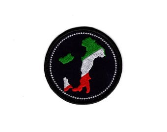 Italy Patch Italy Boot Map Patch iron to sew on Badge #100