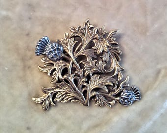 Sterling Silver Thistle Brooch