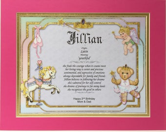 Little Princess print in a pink/gold Double Mat