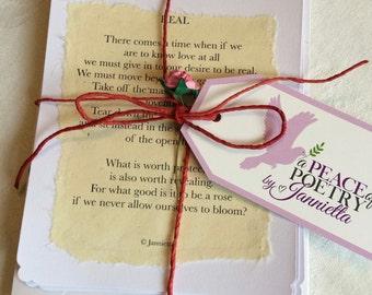 Poetry notelets by Jannietta