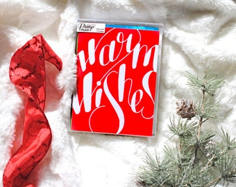 Boxed Set of Nontraditional Holiday Greeting Cards, Colorful Christmas Cards, Card for Neighbor, for Boyfriend, for Mom, for Dad, for Friend