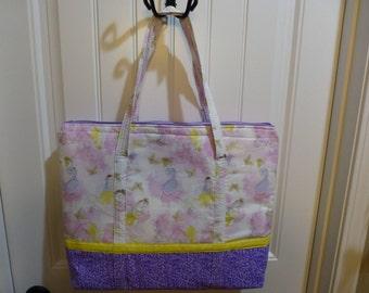 Watercolor Princess Tote Bag.  Disney Princess inspired tote.  Teacher Tote.  Travel Tote