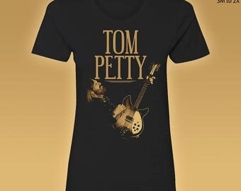 Tom Petty Women's T-Shirt //// Black Tee //// Ring Spun Cotton //// S to 2XL //// Junior and Regular Fit Available