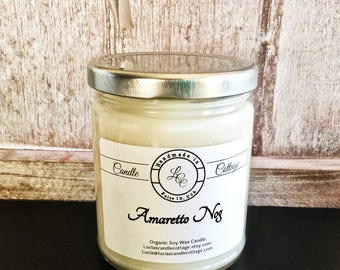 Organic Amaretto Nog Soy Candle, Pure Candle- Scented Candles- Signature Candles- Gift Ideas- White Candles- Fall & Holiday Gifts