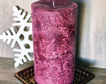 Organic Artsan Pillar Candle-Cranberry Woods-Vegan -Scented Pillars-Decorative Candles- Holiday Scent-Gifts Ideas- Natural Candles-