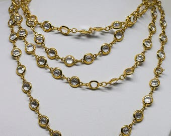 Wonderful gold otne and crystals neckalce
