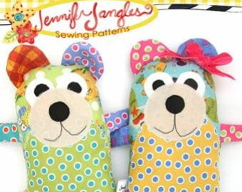 Quincy and Maggie Bear Softie Sewing Pattern by Jennifer Jangles