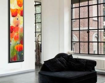 Original Painting, Flower Painting, Canvas Painting, Canvas Art, Oil Painting Flowers, Flower Canvas Art, Large Wall Art