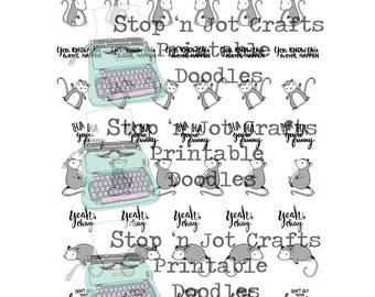 Possum Truths Full Size Printable Sticker Sheet