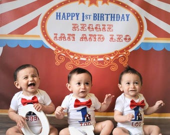 Circus Birthday outfit - circus theme - first birthday outfit - circus tent shirt -circus first birthday - circus Birthday Outfit