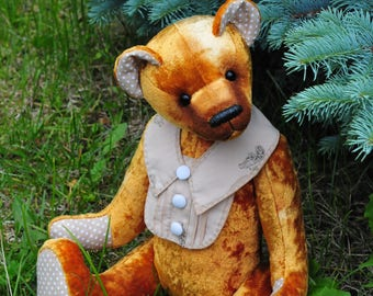 OOAK artist teddy bear ARTHUR