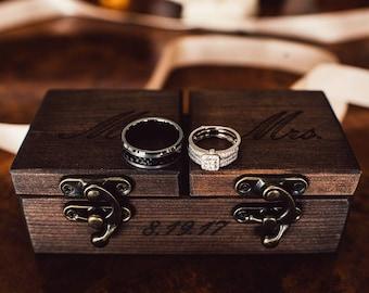 Ring bearer box etsy rustic ring bearer box reclaimed wood ring box wood ring box wedding ring box wedding ring junglespirit Image collections