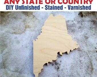 Maine, Maine Wood Cutout, Maine Wall Art, Maine State, Maine Wood Sign, Maine, Maine Wood, Wooden Maine Sign