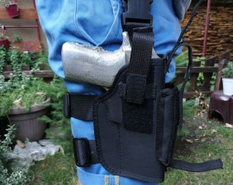 Nylon, universal, drop-leg holster, Leg holster, tactical holster, filler compartment
