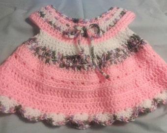 Crochet baby dress, crochet, baby dress, crochet 3-6 mos baby, hand crochet 3-6 mos baby