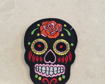 Day of the dead patch - black