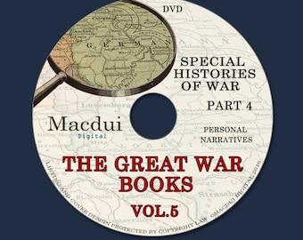 The Great War books Volume 5 Part 4 WW1 Personal Narratives 170 PDF Ebooks on 1 DVD